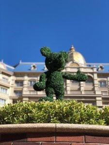 Auch die Gartenanlage des Tokio Disneyland Hotels ist wunderschön gestaltet