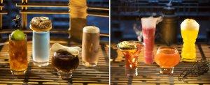 Verschiedene Gläser gefüllt mit Getränken