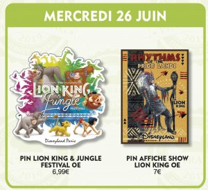 zwei Disney-Pins passend zum Lion King & Jungle Festival