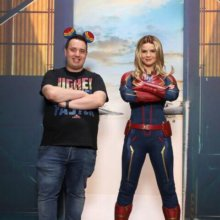 Andreas mit Captain Marvel