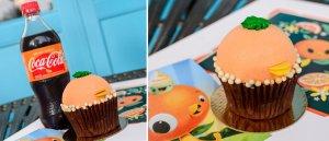 Leckerer Orange Bird Cupcake den es im Saratoga Springs resort zu kaufen gibt