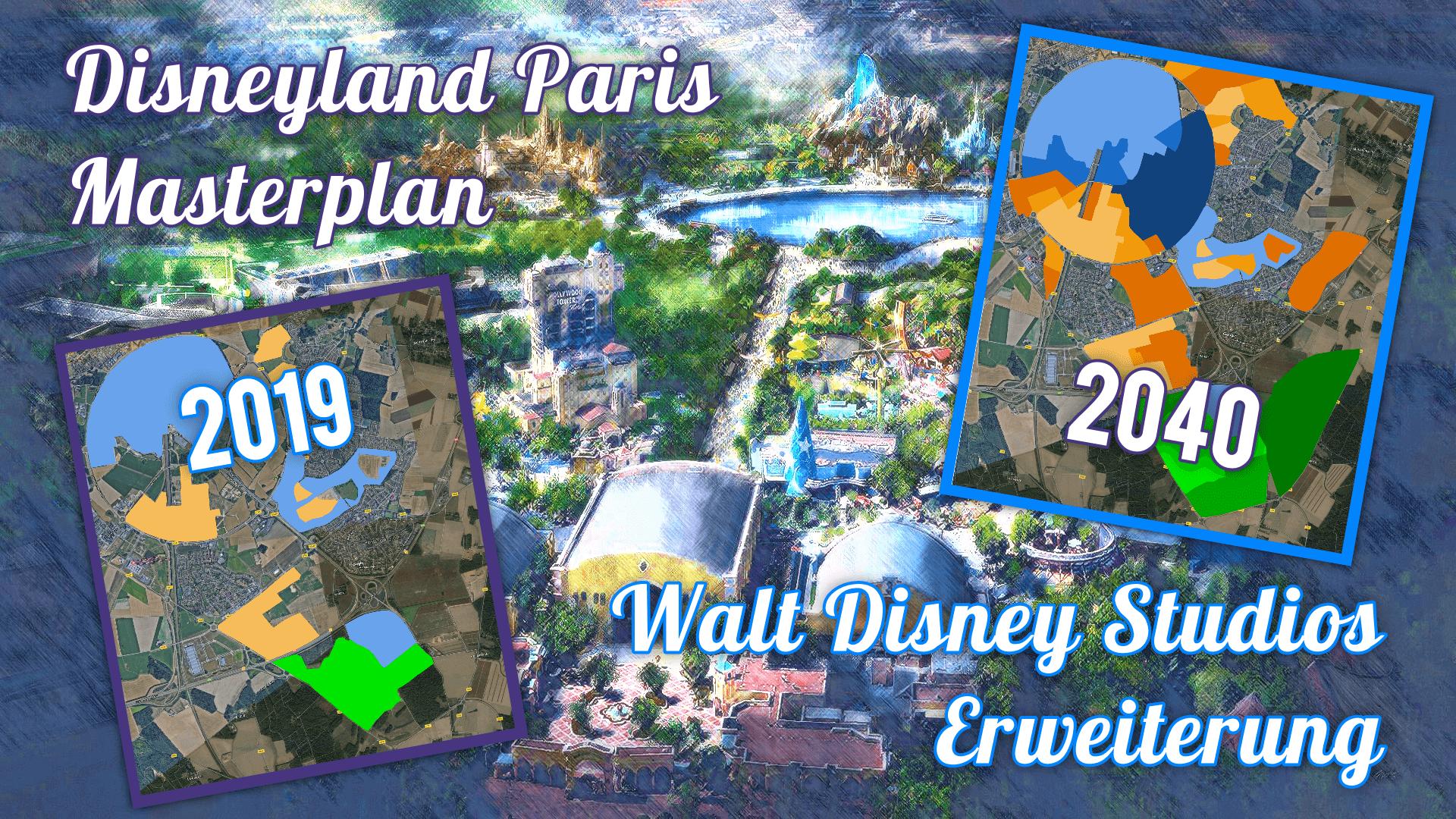 Concept Art zur Erweiterung der Walt Disney Studios und Masterplan Disneyland Paris 2040