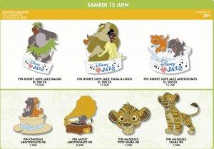 sieben verschiedene Disneypins