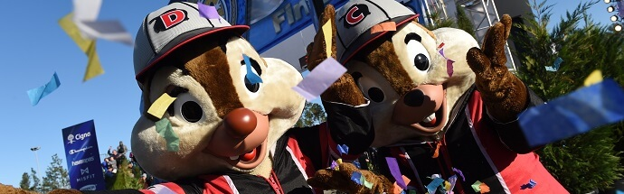 Chip und Chap beim Run Disney-Event in Florida
