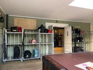 Die Gepäckaufbewahrung in Disney's Hotel Cheyenne
