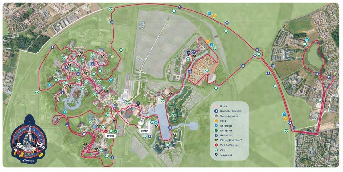 Streckenverlauf für den Halbmarathon