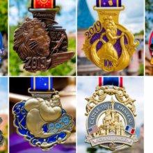 die Medaillen für das RunDisney-Wochenende im DLP 2019