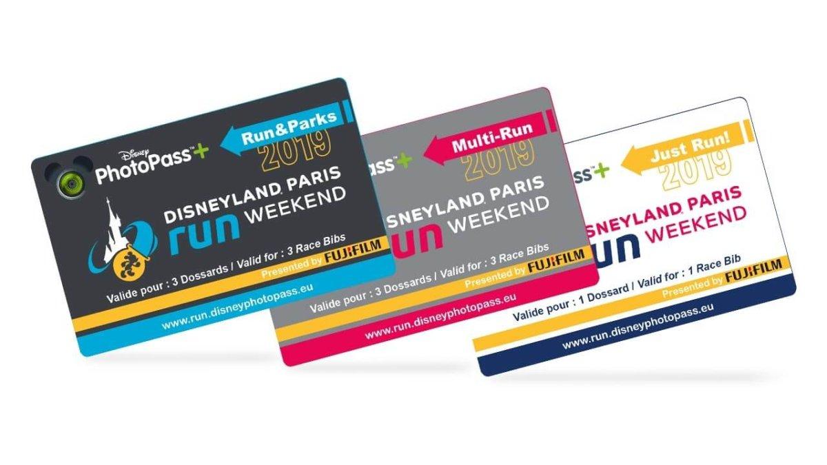 drei PhotoPass-Karten für den runDisney