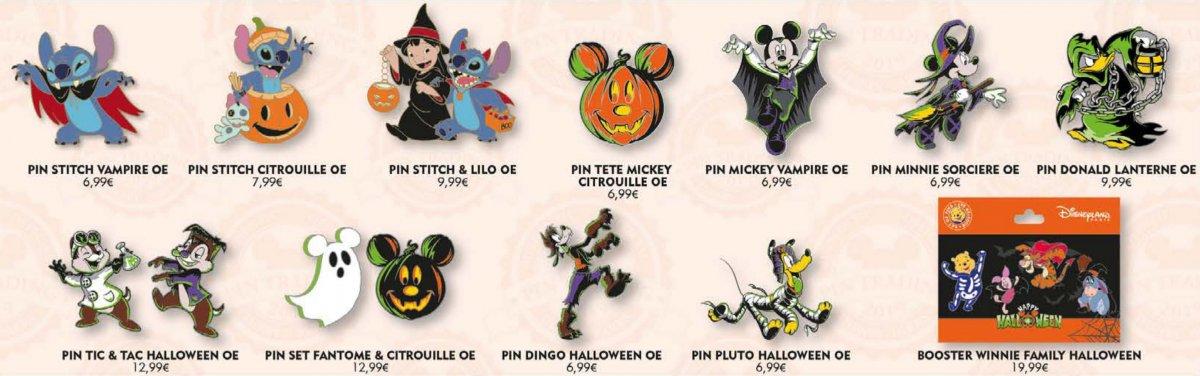 Mehrere Pins im Halloweendesign
