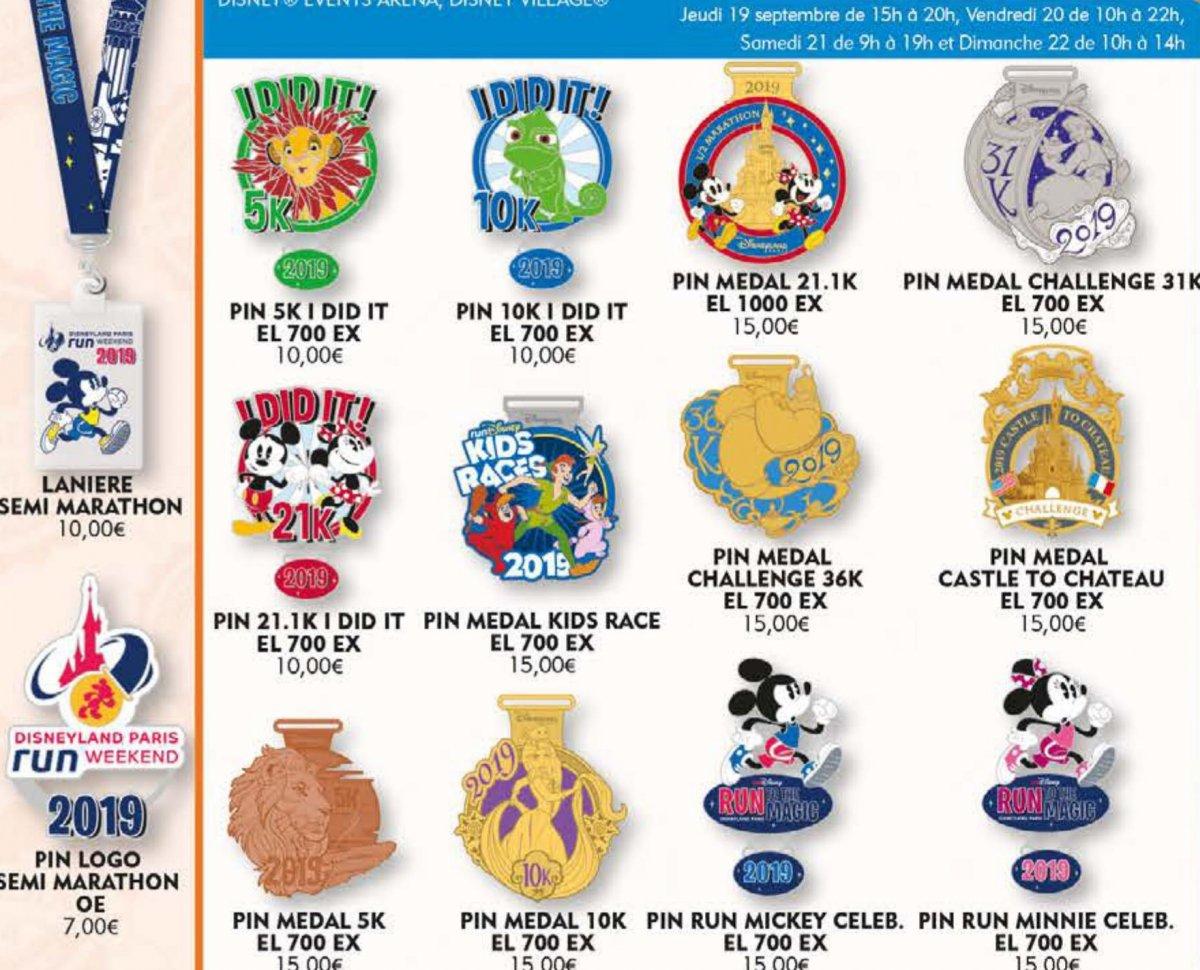 Verschiedene Pins anlässlich des RunDisney Events 2019