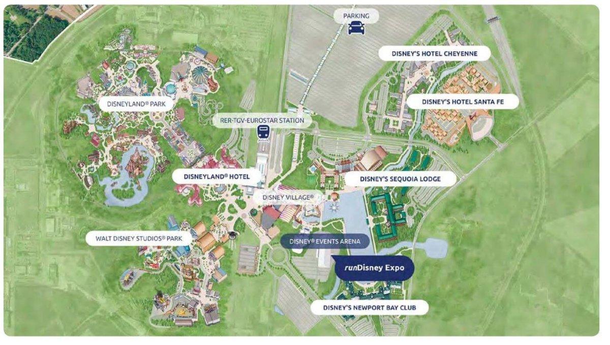 Lageplan für das runDisney-Wochenende im Disneyland Paris