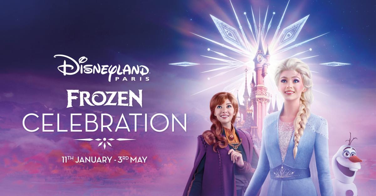 Anna, Elsa und Olaf vor Dornröschenschloss