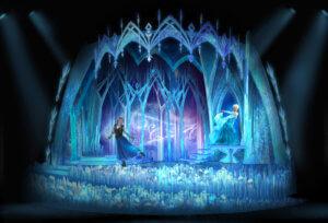Elsas Eispalast mit Anna und Elsa