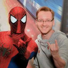 Daniel mit Spider-Man