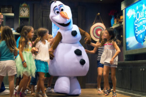 Olaf mit Kindern