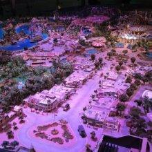 Modell von Disneyland in Kalifornien