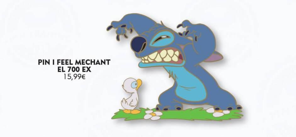 Ein Pin mit Stitch und einem Entchen