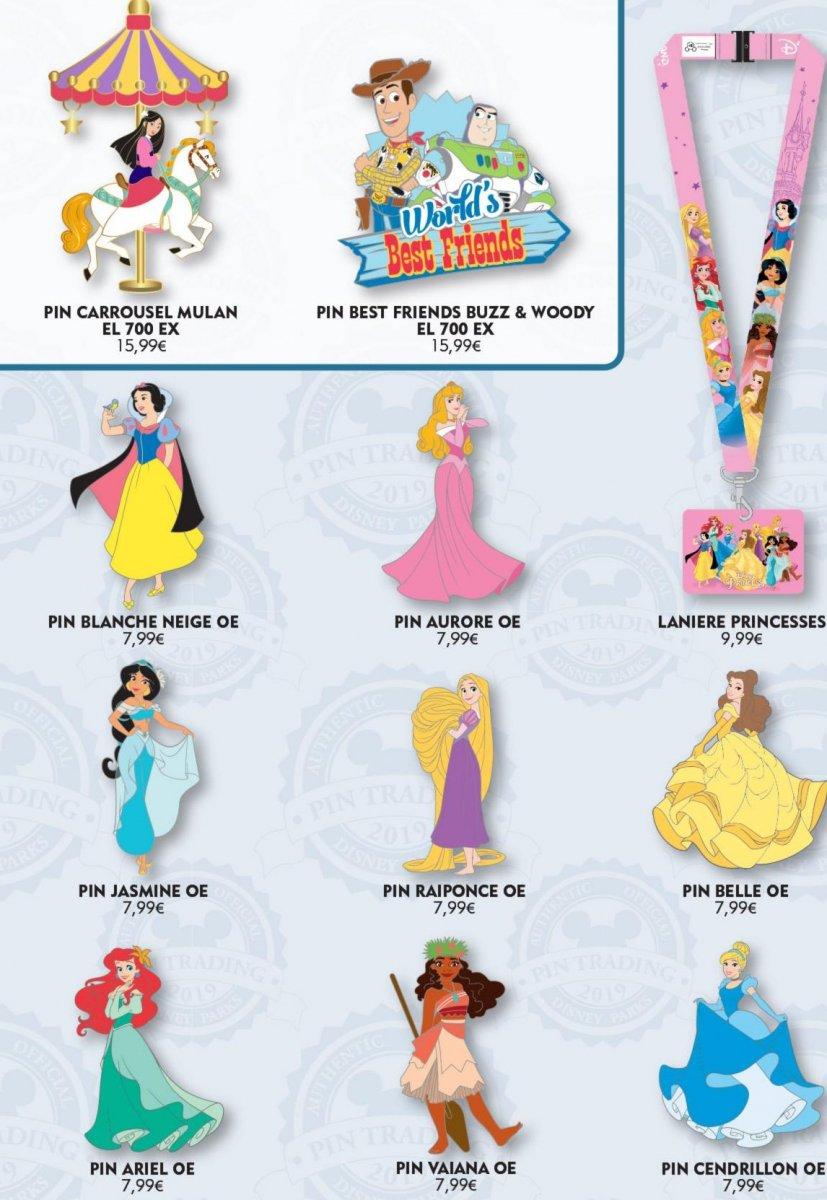 unterschiedliche Disney Pins