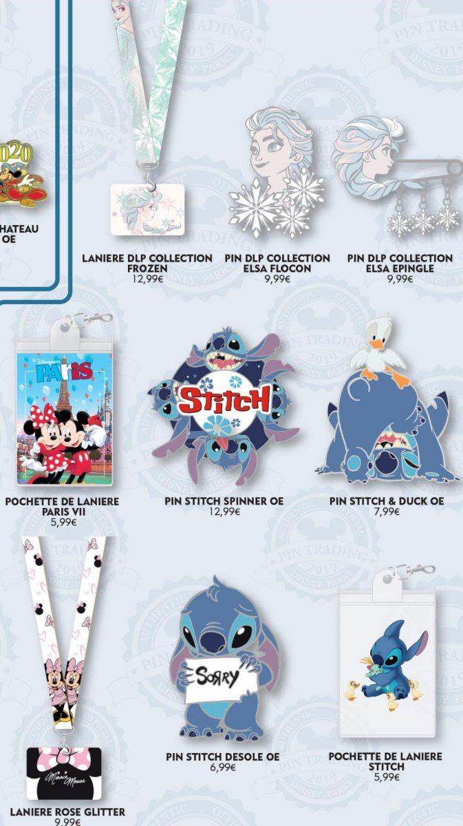 """Pins, Lanyards und Lanyardtäschchen zu """"Die Eiskönigin"""", Stitch, Mickey und Minnie Maus"""