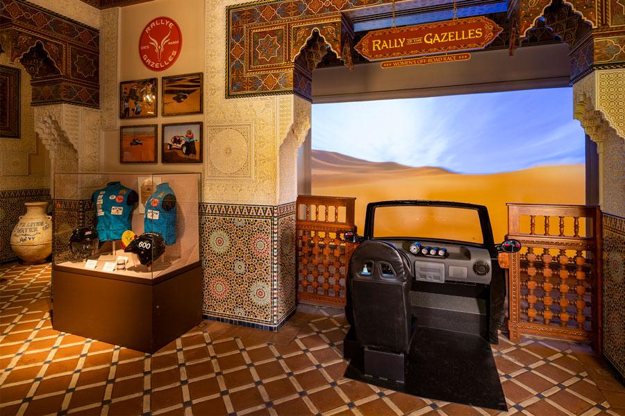 Einblick in die neue Ausstellung im Marokko-Pavillon