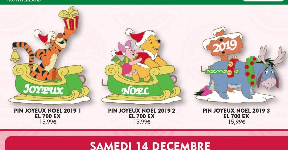 drei weihnachtliche Winnie Puuh-Pins