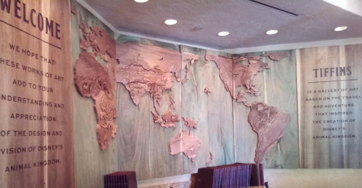 Dekoration im Eingangsbereich des Restaurants