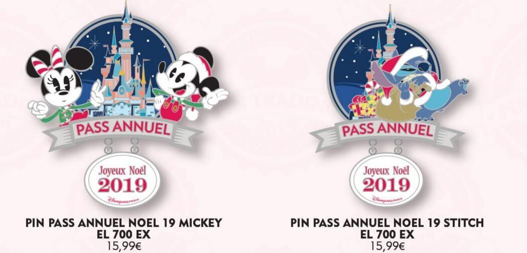 zwei weihnachtliche Disneypins