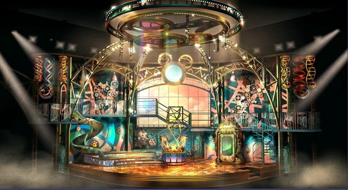 Bühne für Disney Junior Dream Factory im Steampunk Look