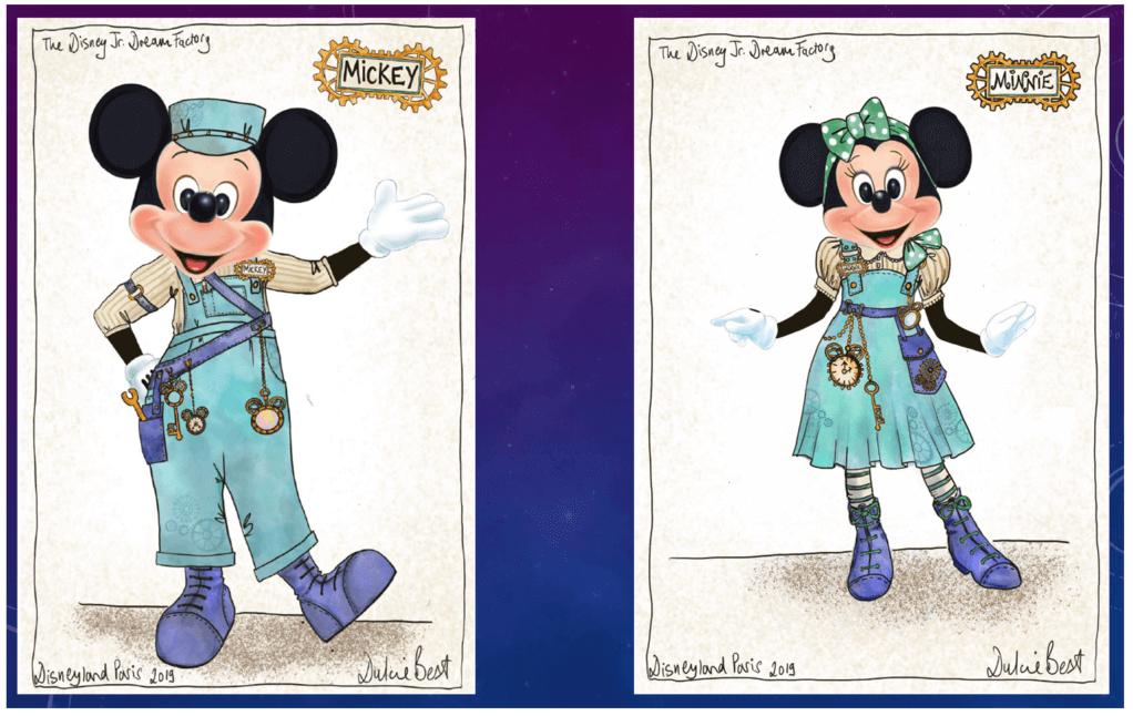 Mickey Mouse und Minnie Mouse in neuen Kostümen für Disney Junior Dream Factory