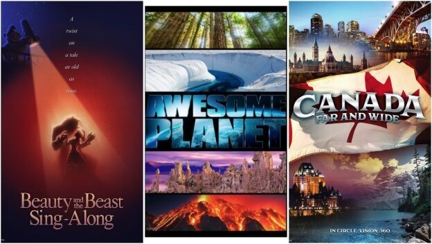 Filmplakate für die Schöne und das Biest, Awesome Planet und Canada Far and Wide