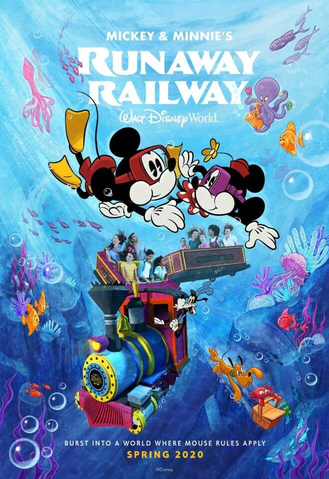Mickey & Minnie Mouse tauchen im Meer und finden einen Zug mit Goofy als Lokführer