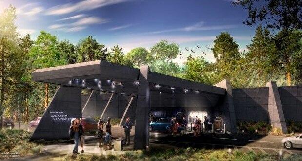 Ankaunftshalle für das neue Star Wars Hotel Star Wars: Galactic Starcruiser