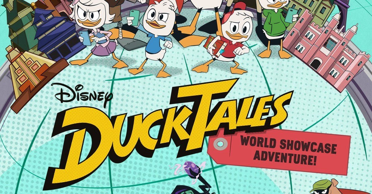Disney DuckTales vor den Gebäuden des World Showcase in Epcot