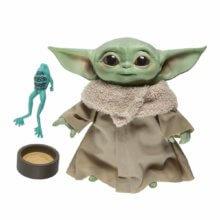 Plüschfigur Baby Yoda mit Frosch und Becher