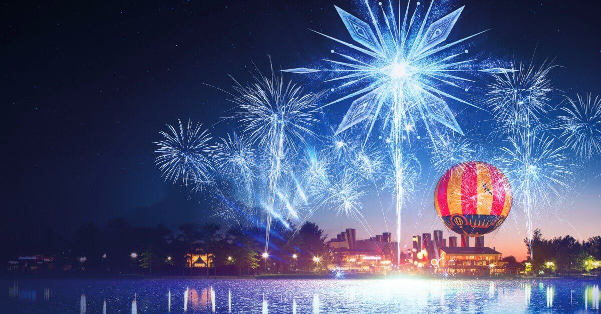 Lake Disney mit Panoramagique-Ballon und Feuerwerk: Magic over Lake Disney