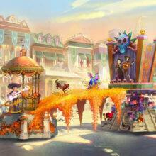 Coco Paradewagen mit Miguel, Dante und anderen Charaktere aus dem Film