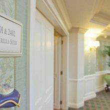 Zimmertür Cinderella Suite im Disneyland Hotel