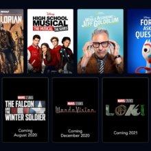 Neuerscheinungen 2020 auf DisneyPLUS