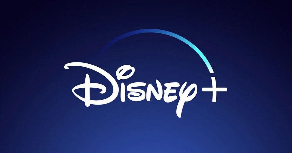 Das Disney+ Logo vor blauem Hintergrund
