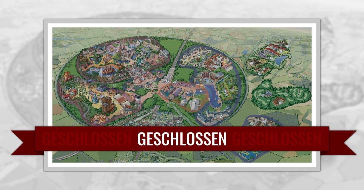 Disneyland Paris geschlossen: Plan des geschlossenen Resorts