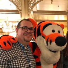 Unser Autor Jens mit Tigger