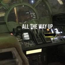 Cockpit mit den Sitzen der Piloten im Millenium Falcon