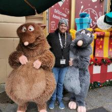 Unser Autor Tim mit Remy und Emile