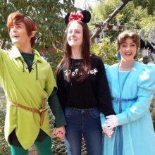 Louisa mit Peter Pan und Wendy