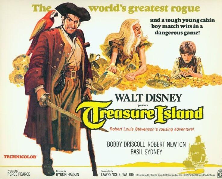Filmplakat für Disneys Die Schatzinsel