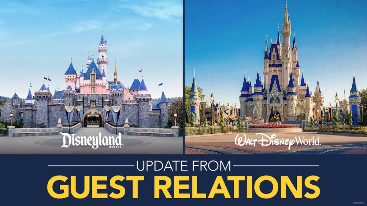 Schloß von Disneyland und Walt Disney World