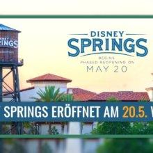 Disney Springs in Walt Disney World öffnet am 20. Mai wieder