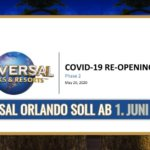 Universal Orlando plant Wiedereröffnug ab 1. Juni 2020