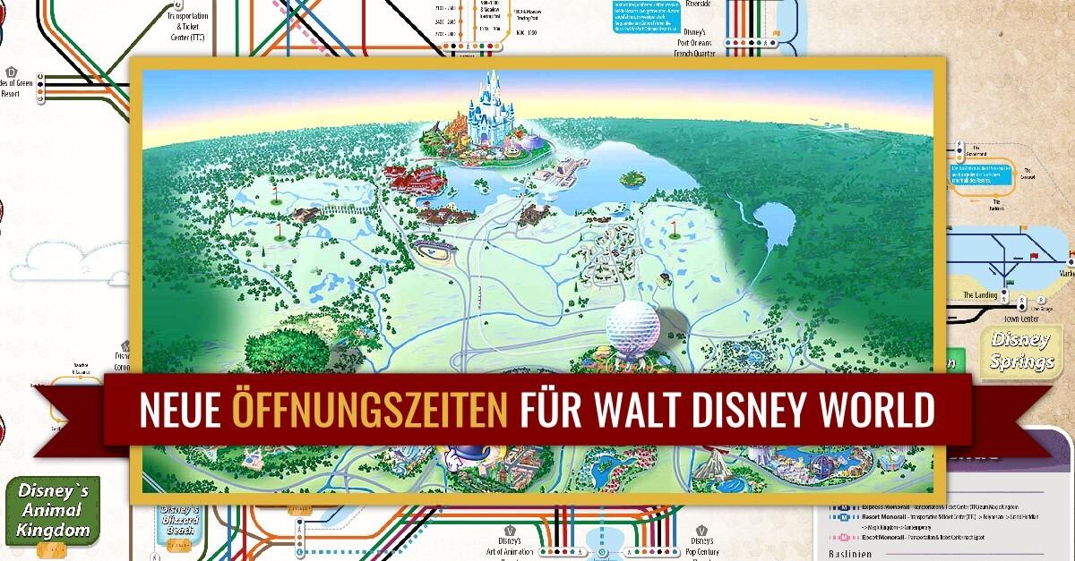 Wiedereröffnung nach Corona: Neue Öffnungszeiten für Walt Disney World