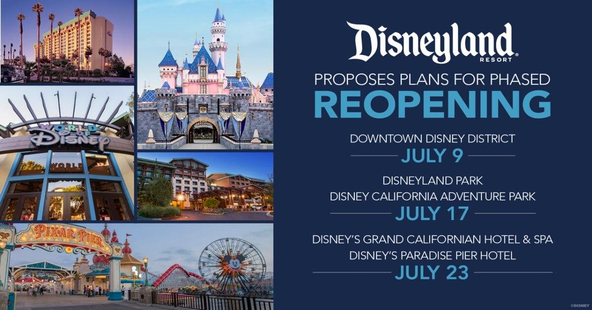 Disneyland Resort Wiedereröffnung: alle Daten und Pläne